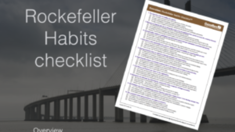 Rockefeller Habits checklist overview