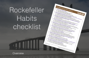 Rockefeller Habits checklist cover